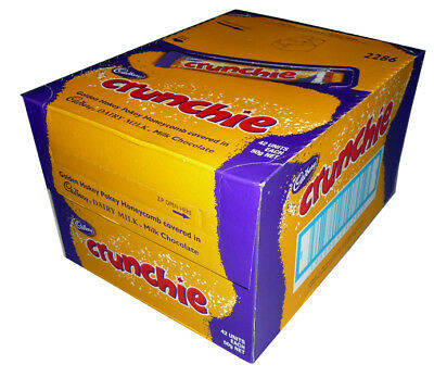 Cadbury Crunchie (42 x 50g bars in a Display)