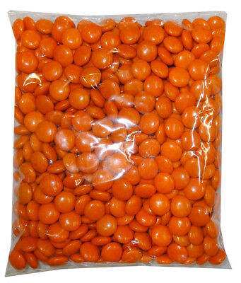 Choc Drops - Orange Single Colour Smarties clones (500g Bag)