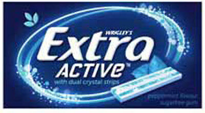 Extra Active Gum - Peppermint Flavour (14 soft gum strips x 24 packs Display ...