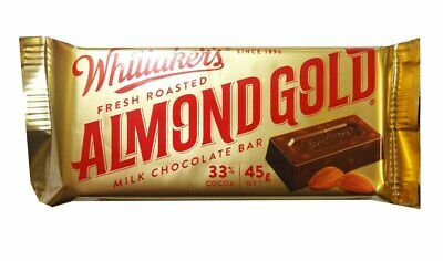 Whittakers Almond Slab (45g bars x 50pc box)