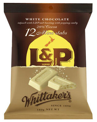Whittakers Mini L&P Slabs (180g bag x 12pc box) (12 bars per bag)