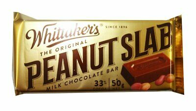 Whittakers Peanut Slab (50g bars x 50pc box)