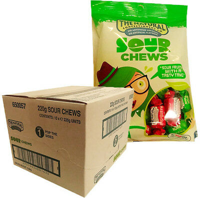The Natural Confectionery Co. - Chews - Sour (220g bag x 10pc box)