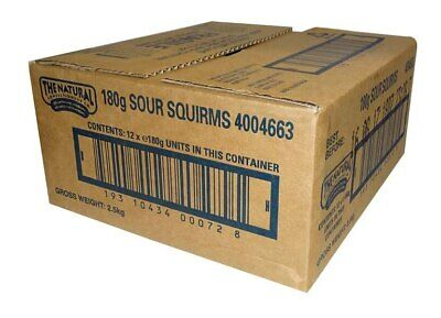 The Natural Confectionery Co. - Sour Squirms (180 bag x 12pc box)