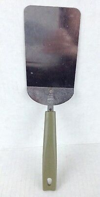 "Vintage Ekco Spatula turner green nylon handle short 9 5/8"" chromium plated"