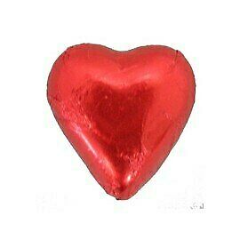 Belgian Milk Chocolate Hearts - Red (5kg Box)