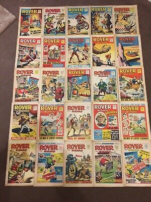 1967 Rover and Wizard Comics x 25