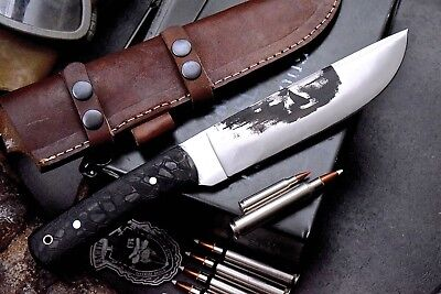 CFK Custom Handmade D2 HONEYCOMB Large Bushcraft PUNISHER BLADE ART Hunter Knife