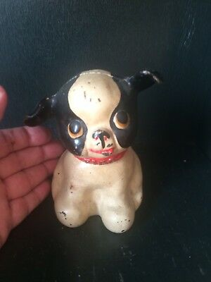 Vintage Cast Iron Dog / Puppy Bank. Paint Is Original. Nice Size Collectible