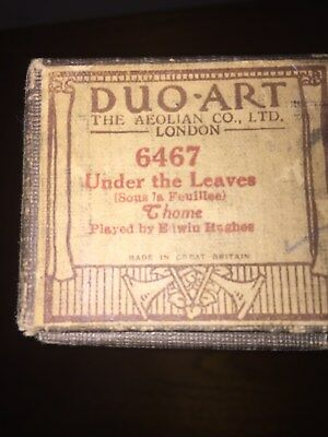 Duo-Art pianola roll,Under the Leaves,