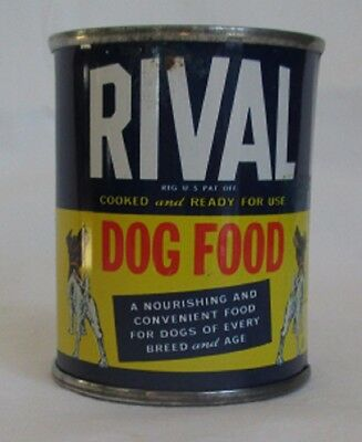 VTG RIVAL DOG FOOD TIN Can Coin Bank  Promotional