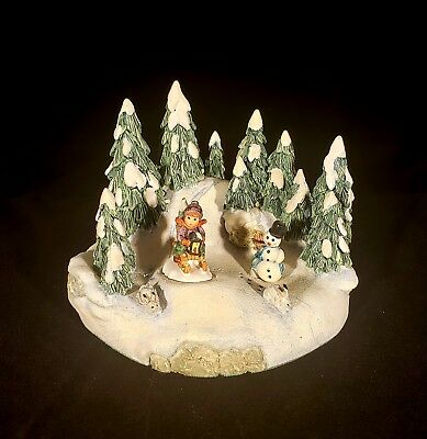 Goebel Ride Into Christmas 294-P Miniature & Danbury Mint Display Scape