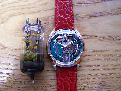 Accutron 214 Gold Filled 1968 SPACEVIEW Tuning Fork Electronic rebuilt Great