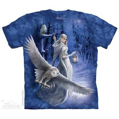 Midnight Messenger T-Shirt by The Mountain.  Fantasy Owl Fairy Sizes S-5X NEW