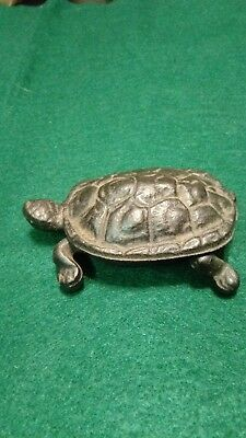 Cast Iron Turtle Match Holder
