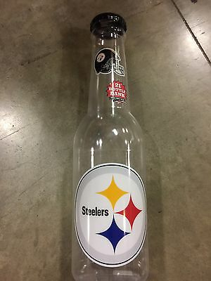 Large Pittsburgh Steelers Cola Bottle Piggy Bank Coin Storage Kids Money Safe