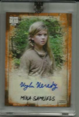 Walking Dead Autograph Collection Auto Kyla Kenedy /50 Mika Speechless Dylan SP