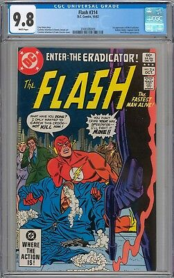 Flash #314 CGC 9.8 NM/MT 1st Appearance of Eradicator WHITE PAGES