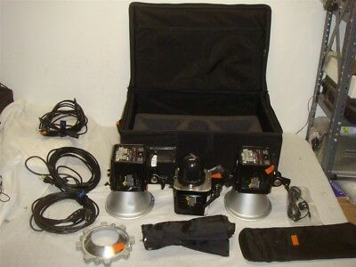 Lot Of 3 Alien Bees 160Ws B400 Studio Monolight Flash Head/light System W Case