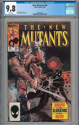 New Mutants #29 CGC 9.8 NM/MT WHITE PAGES