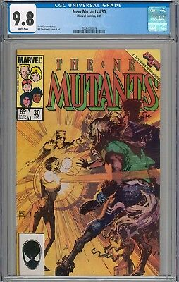 New Mutants #30 CGC 9.8 NM/MT WHITE PAGES