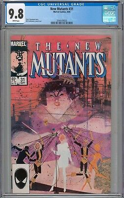 New Mutants #31 CGC 9.8 NM/MT WHITE PAGES