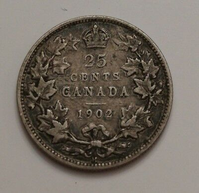 ** King Edwards ** 25 Cents 1902H ** Better Date **