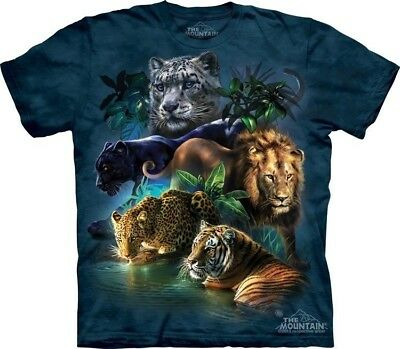 Big Cats Jungle Kids T-Shirt from The Mountain. Zoo Boy Girl Child Sizes NEW