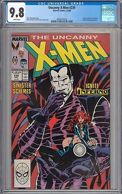 Uncanny X-Men #239 CGC 9.8 NM/MT Mister Sinister Appearance WHITE PAGES