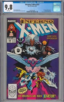 Uncanny X-Men #242 CGC 9.8 NM/MT Goblin Queen Appearance WHITE PAGES