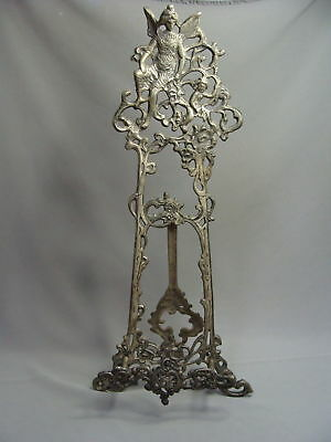 French Art Nouveau Ornate Display Easel with A Fairy and Flowers