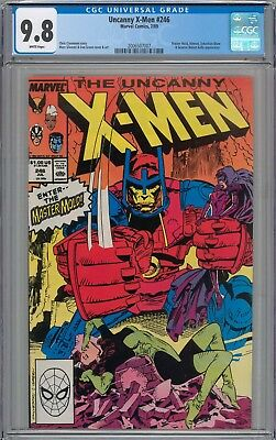 Uncanny X-Men #246 CGC 9.8 NM/MT Master Mold and Sebastian Shaw WHITE PAGES