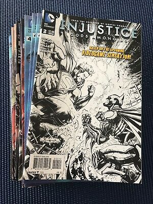 Huge Lot Of DC Comics Injustice Gods Among Us 2-12 Comic Books - 39 Books Total