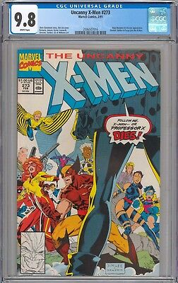 Uncanny X-Men #273 CGC 9.8 NM/MT Gambit, Jubilee & Forge Join X-Men WHITE PAGES
