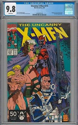 Uncanny X-Men #274 CGC 9.8 NM/MT Magneto, Ka-Zar and Deathbird  WHITE PAGES