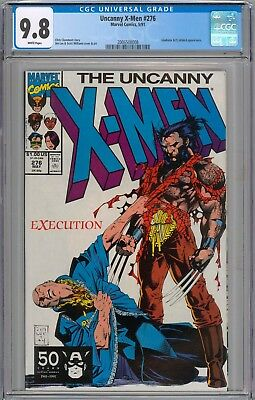 Uncanny X-Men #276 CGC 9.8 NM/MT Gladiator & Deathbird Appearance WHITE PAGES