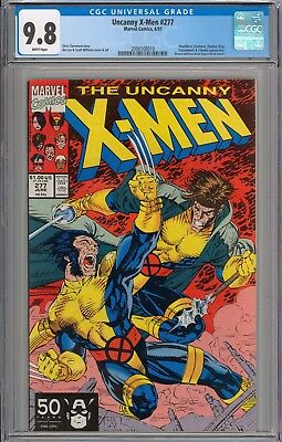 Uncanny X-Men #277 CGC 9.8 NM/MT Gladiator & Deathbird Appearance WHITE PAGES