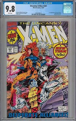 Uncanny X-Men #281 CGC 9.8 NM/MT 1st Appearance of Trevor Fitzroy WHITE PAGES
