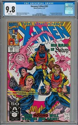 Uncanny X-Men #282 CGC 9.8 NM/MT 1st Appearance of Bishop (Cameo) WHITE PAGES