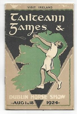 1924 TAILTEAN GAMES & DUBLIN IRELAND Horse Show STEAMSHIP Travel Brochure Photos