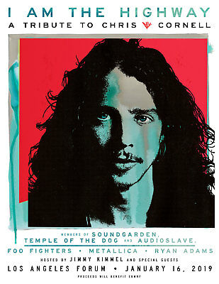 Chris Cornell - I Am The Highway Concert - TWO Tickets - Jan. 16 - The Forum, LA