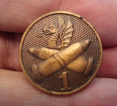 1st CHEMICAL CORPS WWI COLLAR DISC OR COLLAR BRASS INSIGNIA - NICE REPRO