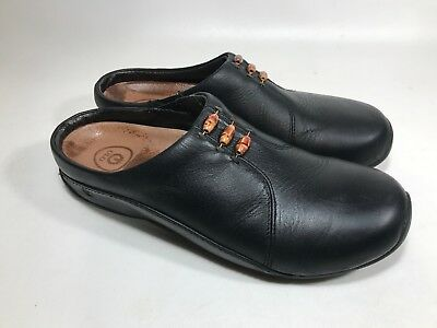 ULU Women's Leather Outdoor Clogs Size 7W Black ((a5