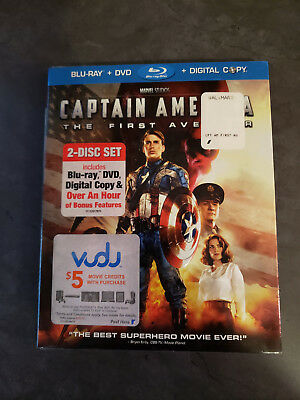 Captain America: The First Avenger Blu-ray, DVD, and Digital, Brand New, Sealed