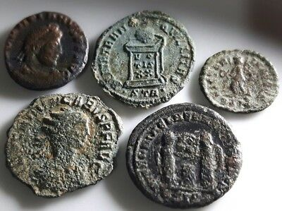 Lot Of 5 Ancient Roman Bronze Coins
