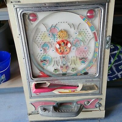 Vintage Sankyo Japan pachinko pinball machine with steel balls