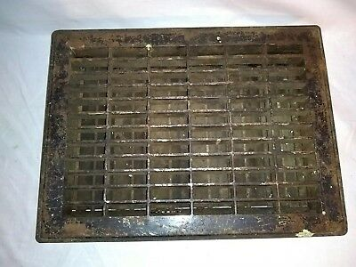 Vintage Heat Grate Vent Metal Heat Register With Louvers