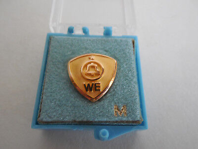 10K Gold Bell System Western Electric 1 Star 5 Year Service Pin Vintage in Box