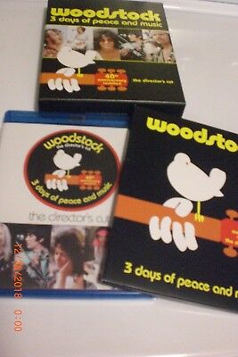 Woodstock The Director's Cut 3 Days of Peace And Music 40th Anniversary Blu-Ray