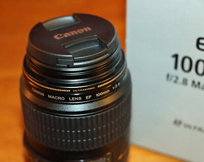 Canon EF 100mm F/2.8 Macro USM Lens - Excellent Condition